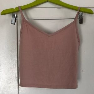 Forever 21 Nude Pink Spaghetti Strap Crop Top